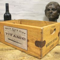 Titanic White Vintage Box Star Line Wooden Storage Crate Liner Cruise Ship